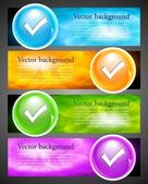 Set of web banners — Stock Vector