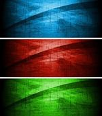 Colourful textural banners — Stock Vector