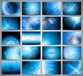 Vector tech backdrops collection — Stock Vector