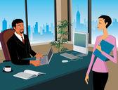 Bedrijf werken in office — Stockfoto