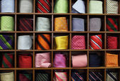 Ties on the shelf — Stock Photo