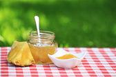 Pineapple jam — Stock Photo