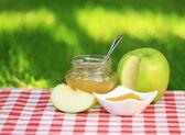 Dżem jabłkowy — Zdjęcie stockowe