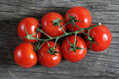 Dewy red tomatoes — Stock Photo