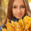 Royalty-Free Stock Photo: Portrait of a happy teen girl in autumn forest