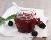 Blackberry jam — Stock Photo