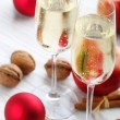 Christmas champagne - Stock Photo