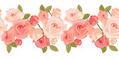 Seamless pattern with pink roses — Stok Vektör
