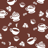 Seamless pattern with cups of coffee — Stock Vector