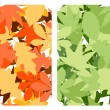Seamless pattern with leaves — Stock Vector #5749365