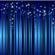 Abstract blue background with stars - Image vectorielle