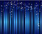 Abstract blue background with stars — Vector de stock