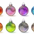 Royalty-Free Stock Vector Image: Different christmas glass balls