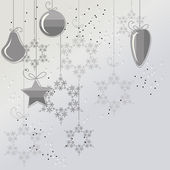 Christmas background with balls and snowflakes — Stock Vector