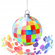 Hanging mirror ball — Stock Vector