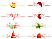 Set of differentChristmas elements — Stock Vector