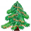 Royalty-Free Stock Vector Image: Christmas tree isolated