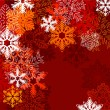Stock Vector: Red background with snowflakes