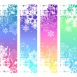 Stock Vector: Four abstract vertical winter banners