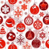 Christmas seamless background with balls — Stock Vector