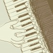 Accordion sketch — Vector de stock