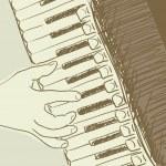 dibujo acordeón — Vector de stock