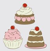 Kleine kuchen — Stockvektor