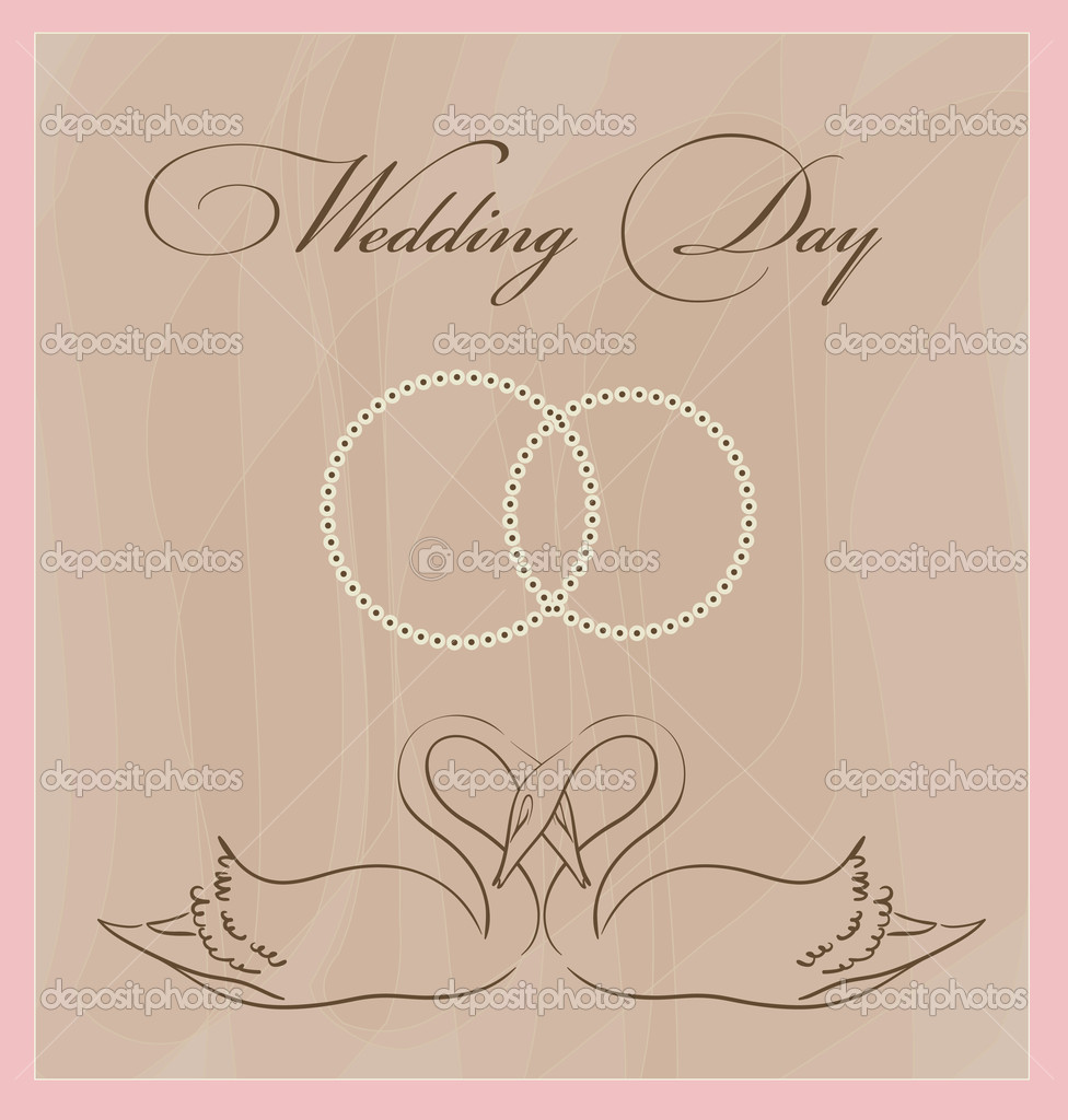 Wedding invitation template — Stock Vector #5575369