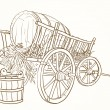 Stock Vector: Vintage cart