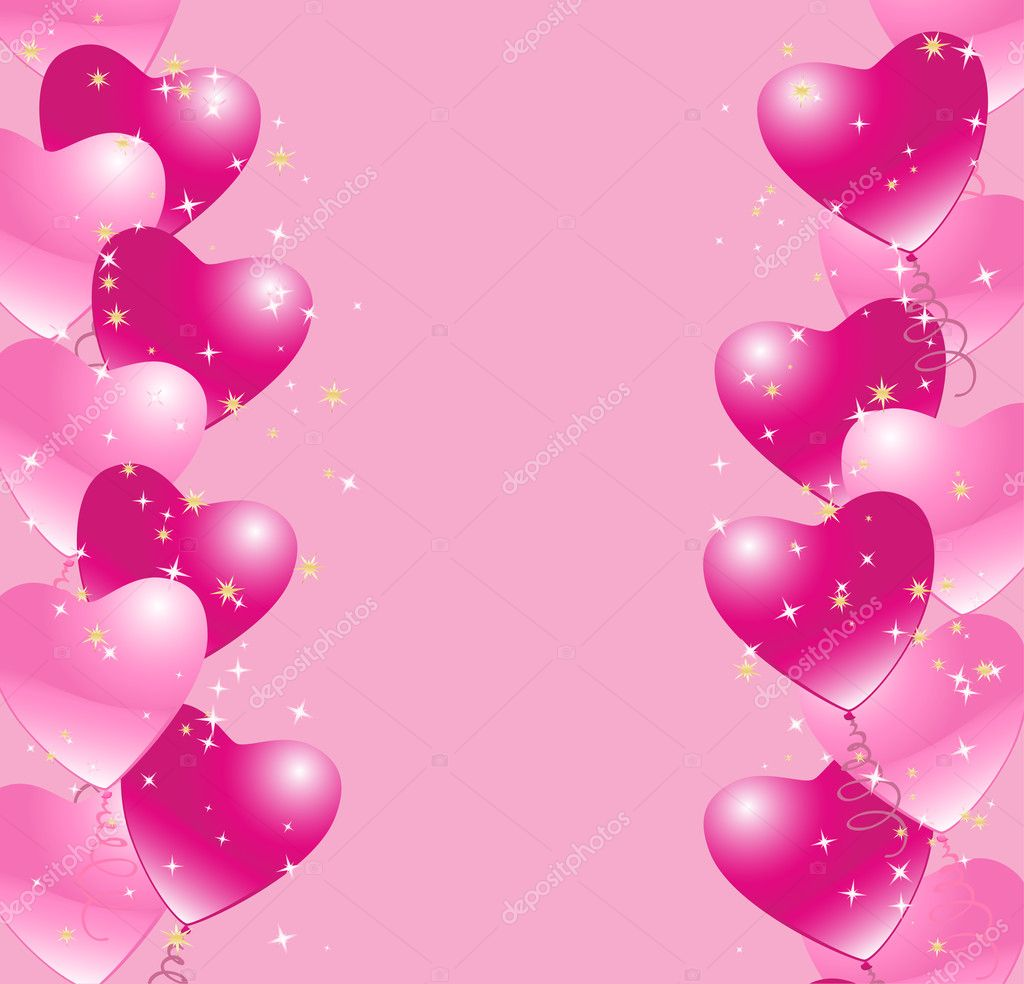 Heart balloons background — Stock Illustration © Ghenadie Pascari #