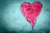 Grungy heart — Foto Stock