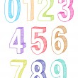 Stock Vector: Set of numbers