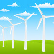 Stock Vector: Wind turbines