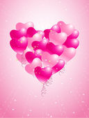 Heart made of balloons — Vector de stock