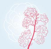 Sakura flores — Vector de stock