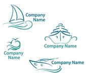 Yachting symbols — Stock Vector