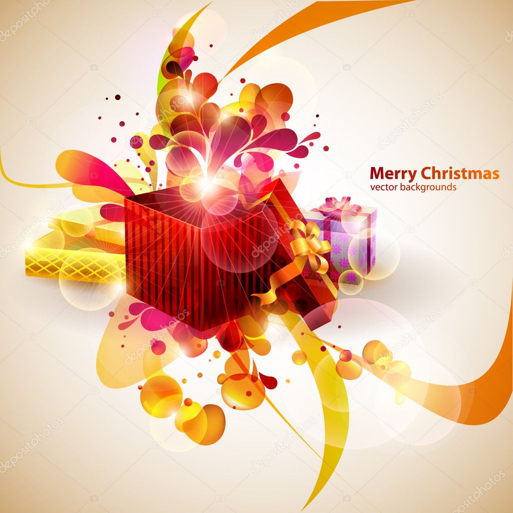 Christmas gifts. — Stock Vector #6029680