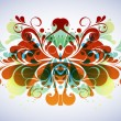 Abstract floral composition - Imagen vectorial