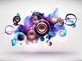 Vector abstract Loudspeakers — Stock Vector