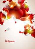 Abstraction red bubbles — Stockvector