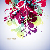 Abstract floral background — Vettoriale Stock