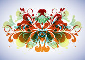 Abstract floral composition — Vector de stock