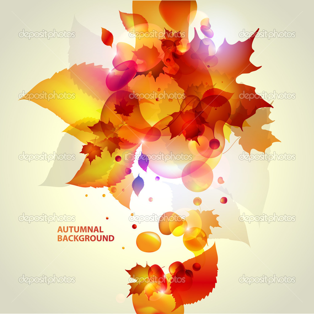 Abstract autumn background. — Stock Vector #6032106