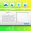Website design Vector template - Imagen vectorial