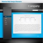 Website Web Design Elements — Stock Vector