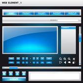 Plantillas de elemento web — Vector de stock