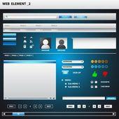 Elementos web — Vector de stock