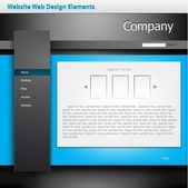 Website Web Design Elements — Vettoriale Stock