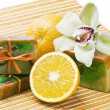 Orange handmade soap — Stock Photo