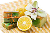 Orange handmade soap — Foto Stock